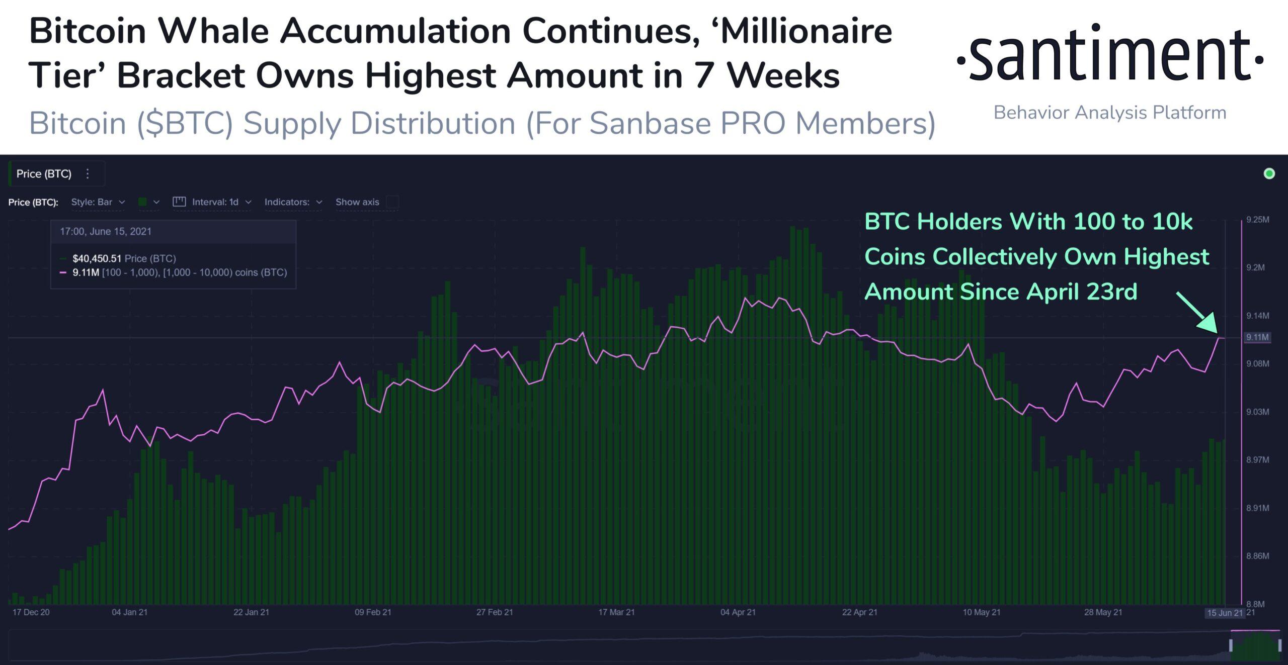 Bitcoin: adresele mari au acumulat 90,000 de BTC în ultima lună